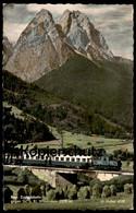 ÄLTERE POSTKARTE BAYRISCHE ZUGSPITZBAHN GEGEN WAXENSTEIN Krokodil-Lokomotive Locomotive Eisenbahn Railway Chemin De Fer