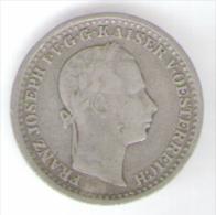 ITALIA LOMBARDO VENETO 10 KREUZER 1859 AG - Lombardo-Veneto