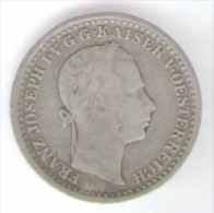 ITALIA LOMBARDO VENETO 10 KREUZER 1859 AG