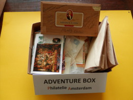 ADVENTURE BOX #7: MAXI, FDC, TOPICALS, CLASSICS, MODERN; START 1 EURO. - Mezclas (min 1000 Sellos)