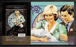 FAMILIAS REALES - REPUBLICA CENTROAFRICANA 1981 - Yvert #A245 ** (Hoja Oro) - MNH ** - Familias Reales