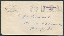 1937 USA Washington Argentina Embassy Diplomatic Mail Cover - Lettres & Documents