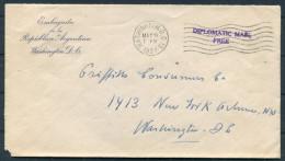 1937 USA Washington Argentina Embassy Diplomatic Mail Cover - Argentina