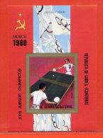 GUINEE EQUATORIALE BLOC NON DENTELE** TENNIS DE TABLE,PING-PONG JEUX OLYMPIQUES DE MOSCOU 1980 - Guinea Ecuatorial