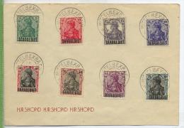 1920,  Minr. 32+33+34+35+37+38+39+40 Gest. Auf Brief. Zustand: Sehr Gut - Deutschland