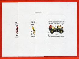 DJIBOUTI N°591/93 AUTOMOBILES 3 EPREUVES DE LUXE - Dschibuti (1977-...)