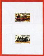 DJIBOUTI N°603/04 TRAINS 2 EPREUVES DE LUXE - Dschibuti (1977-...)