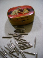 Scatola/scatoletta In Latta Con PUNTINE Grammofono.  Made In Germany. Anni'20 - Altri Oggetti