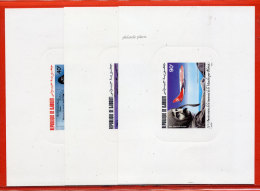 DJIBOUTI PA N°208/10 BLERIOT,AVIONS 3 EPREUVES DE LUXE - Dschibuti (1977-...)