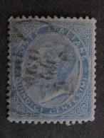 """ITALIA Regno -1863- """"De La Rue"""" C. 15 US° (descrizione) - Usati"""
