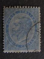 """ITALIA Regno -1863- """"De La Rue"""" C. 15 US° (descrizione) - 1861-78 Vittorio Emanuele II"""