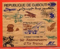 DJIBOUTI BLOC N°2 NON-DENTELE CONCORDE,AVION - Dschibuti (1977-...)