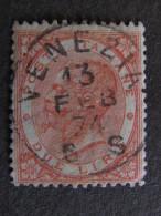 """ITALIA Regno-1866- """"De La Rue Torino"""" £. 2 US° (descrizione) - Usati"""