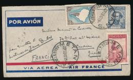 Enveloppe (1940) ARGENTINA - FRANCIA, Via Aerea - Air France, Air Mail, Por Avion, Metan-Caudiran (Gironde) Buenos Aires - Storia Postale