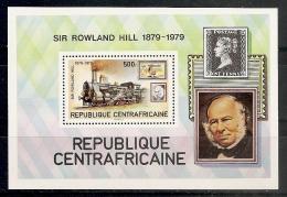 CELEBRIDADES/ROWLAND HILL - REPUBLICA CENTROAFRICANA 1979 - Yvert #H39 - MNH ** - Rowland Hill