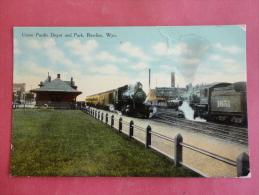 Train Depot--Rawlins,WY--Union Pacific Depot--cancel 1910--PJ118 - Etats-Unis