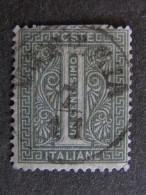"""ITALIA Regno-1866- """"De La Rue Torino"""" C. 1 US° (descrizione) - 1861-78 Vittorio Emanuele II"""