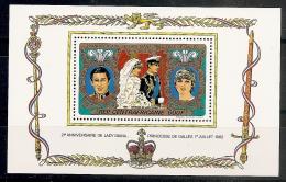 FAMILIAS REALES - REPUBLICA CENTROAFRICANA 1982 - Yvert #H60 - MNH ** - Familias Reales