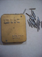 Scatola/scatoletta In Latta Puntine Grammofono. DIK Needles. Golden Voice - Altri Oggetti