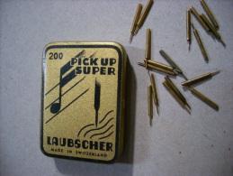 Scatola/scatoletta In Latta Puntine Grammofono. 200 Pick Up Super. LAUBSCHER. Made In Switzerland - Altri Oggetti