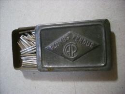 Scatola/scatoletta In Latta Puntine Grammofono. Plombs Pendus CAP - Altri Oggetti
