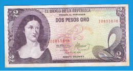 COLOMBIA - 2 Pesos 1976  P-413 - Colombia