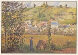 PISSARO : ## Landschap In Chaponval ## : IMPRESSIONISME - Kunstkaart Met Beschrijving Op De Keerzijde. - Paintings