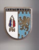 Pin´s Ecusson Blason Haute Saone   FN  Front National Fleurs De Lys Lion  Réf 8040 - Pin's