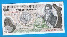 COLOMBIA -  20 Pesos 1982 Sc  P-409 - Colombia