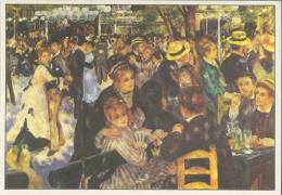RENOIR : ## Het Bal Van De Moulin De La Galette ## : IMPRESSIONISME - Kunstkaart Met Beschrijving Op De Keerzijde. - Malerei & Gemälde