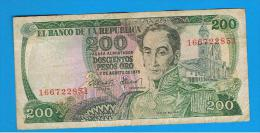 COLOMBIA -  200 Pesos 1975  P-417 - Colombia