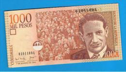 COLOMBIA -  1000 Pesos 2001 SC  P-450 - Colombia