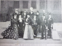 Pékin , Les Femmes Des Ministres Plénipotentiaires Européens En Chine , Gravure Sgap 1900 - Historical Documents
