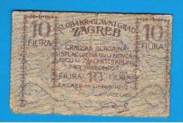 CROACIA - Notgel Zagreb 10 Filira 1919 - Croacia