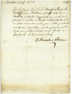 Peuserich 1789 Militaire Suisse Appenzell Hundwil Melchior Graf Marcellus Boser - Documenti Storici