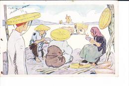 PUB  Le Riz D'Indo-Chine  --  Repas Des Moissonneurs - Cartes Postales