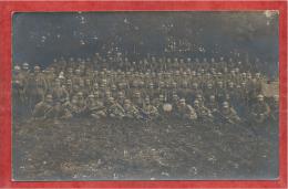57 - BAUDRECOURT - Carte Photo Militaire Allemande  - Soldats Allemands - Feldpost - Voir Cachets - 3 Scans - Forbach