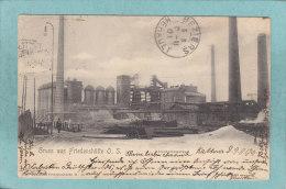 GRUSS  AUS  FRIEDENHÜTTE  O.  S.   -  HOCHOFENWERKE  -  1901  -  CARTE PRECURSEUR  - - Polen