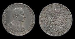 ALLEMAGNE . PRUSSE . WILHELM II . 5 MARK . 1914 . A . - [ 2] 1871-1918 : German Empire