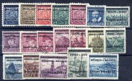 BOHEMIA & MORAVIA 1939 Overprinted Definitive Set Used, Most Signed Gilbert. - Bohemia & Moravia