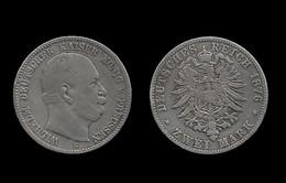 ALLEMAGNE . PRUSSE . WILHELM I . 2 MARK . 1876 C . - [ 2] 1871-1918: Deutsches Kaiserreich