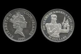 ILES COOK . 50 DOLLAR . 500 ANS DE L´AMERIQUE . 1990 . - Cook