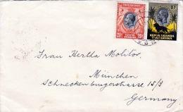 KENYA - UGANDA - TANGANYIKA 1937, 2 Sondermarken Auf Brief (Kuvert) Gelaufen Von Daressalaam (Dar Es Salaam) N. München - Kenya, Uganda & Tanganyika