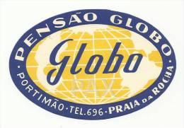 PORTIMÃO ♦ PENSÃO GLOBO ♦ PORTUGAL ♦ VINTAGE LUGGAGE LABEL ♦ 2 SCANS - Etiquettes D'hotels
