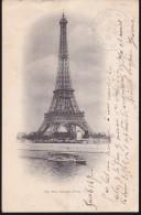 """France - Cachet """"1er étage De La Tour Eiffel - 14 Juillet 1903"""" Obl. Paris Départ 15/07/1903 Sur CP Maximum - Handstempel"""