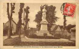 Somme -ref A377- Noyelles Sur Mer - Le Monument Aux Morts De La Guerre 1914-18- Carte Bon Etat  - - Noyelles-sur-Mer