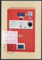 1984 Iceland Frama Post Machine Maxi Card - 1944-... Republique