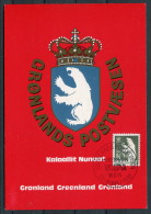 1981 Greenland WIPA Wien Stamp Exhibition Polar Bear Maxicard - Cartes-Maximum (CM)