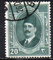 EGYPT 1923 King Fuad I - 20m. - Green  FU - Usati