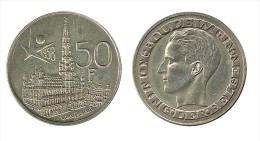 N1498 - Congo Belge: Baudouin I: 50 Francs 1958 Légendes Flamandes (Exposition 1958) - 1951-1993: Baldovino I